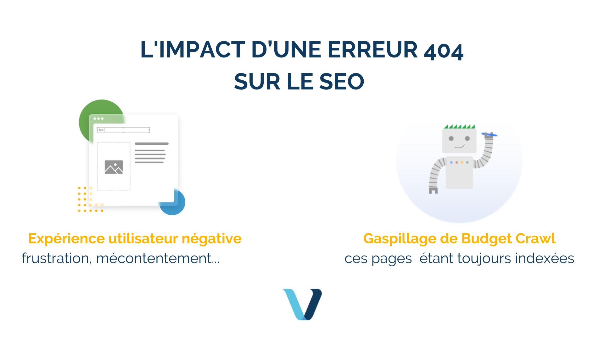 Quel est l'impact d'une erreur 404 sur le SEO ?