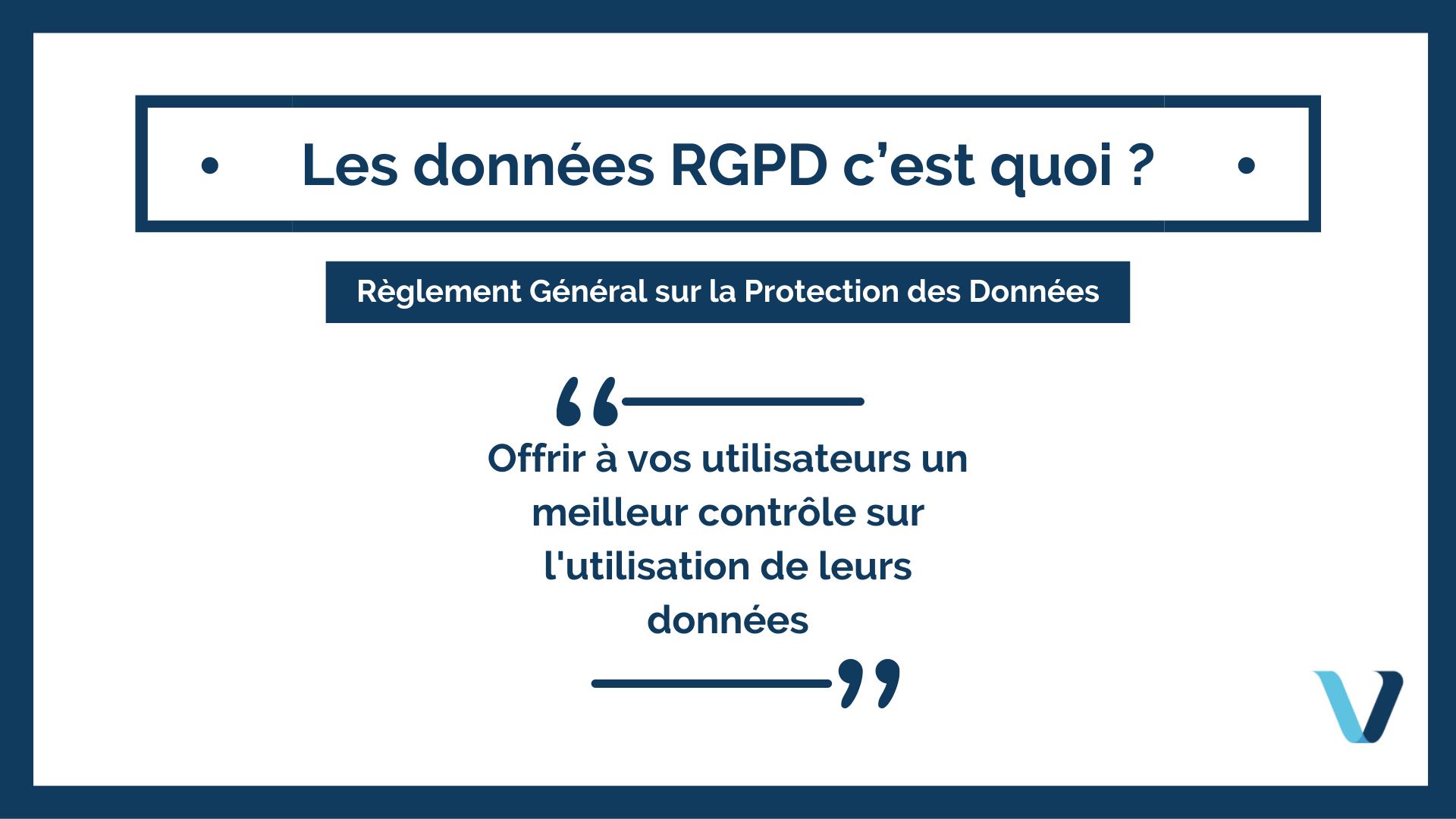 Les RGPD, c'est quoi ?