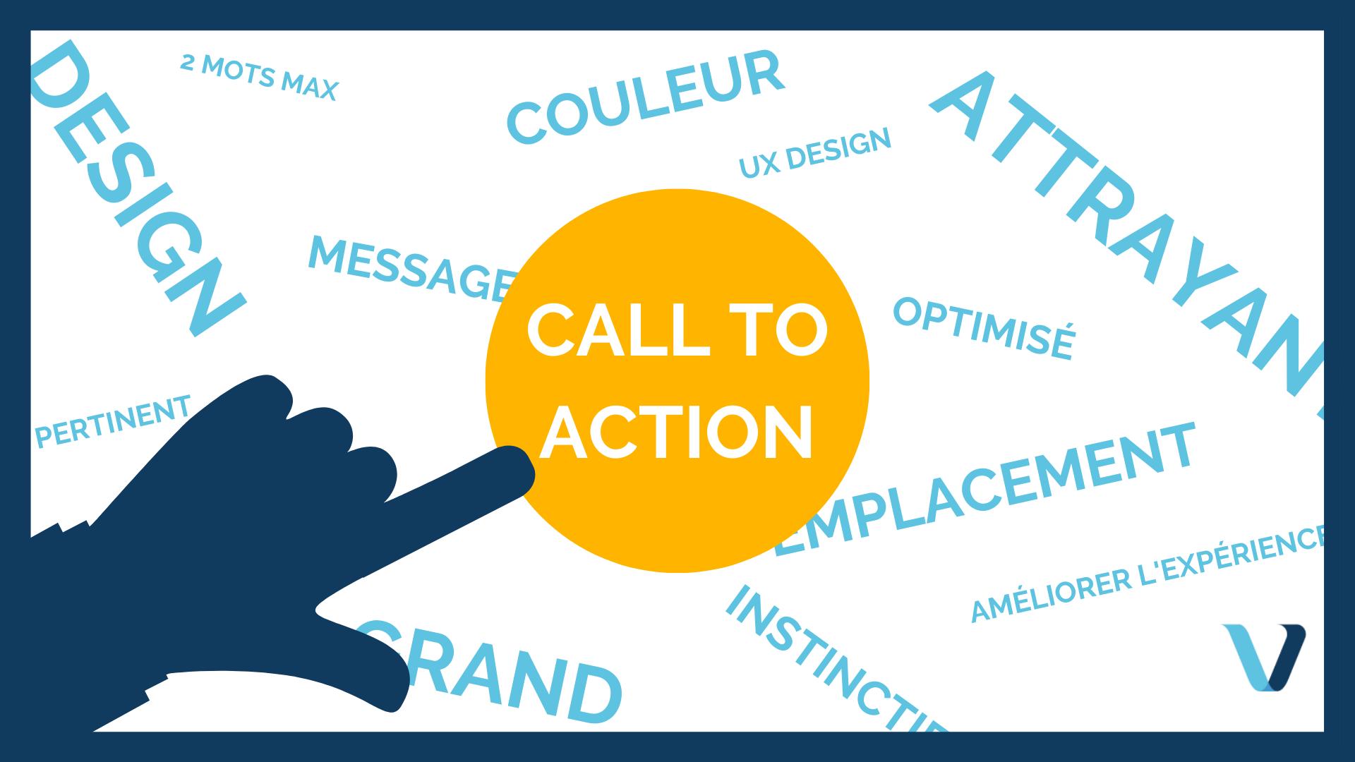 Bouton et phrase call to action : essentiels dans le parcours d'achat