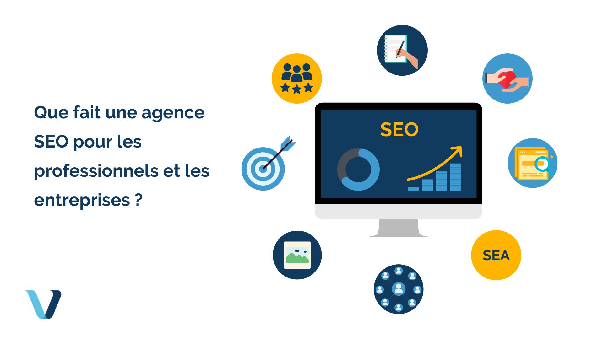 Que fait une agence SEO pour les professionnels et les entreprises ?