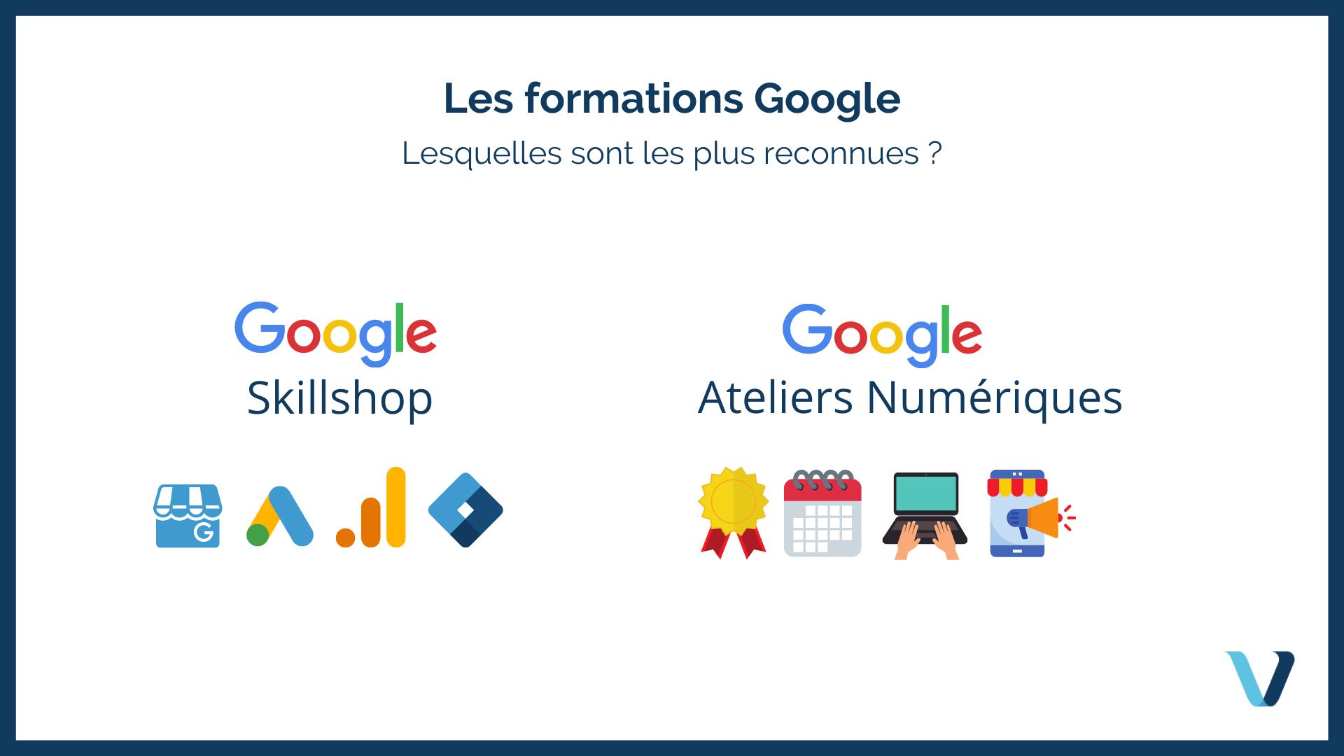 Quelles sont les formations que Google propose ?